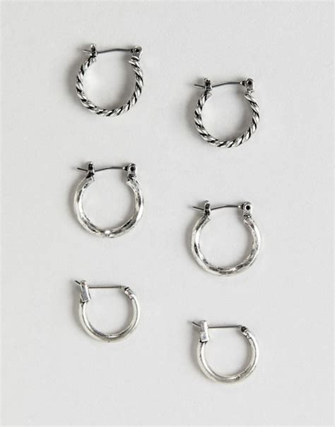 Asos Hoop Earring Pack asos design asos design mixed hoop earring pack in
