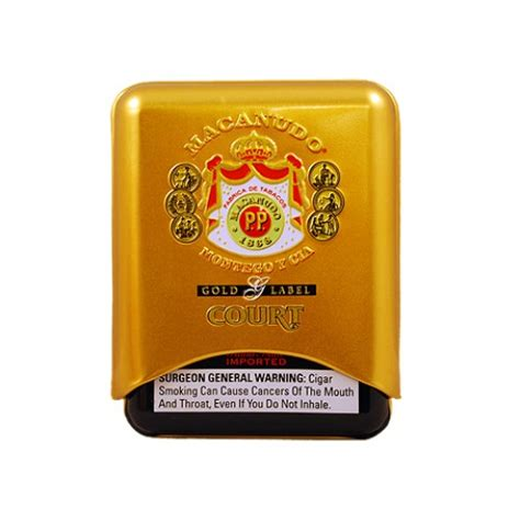 Macanudo Gold Court Tin of 5 (4 3/16 x 36)