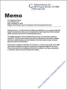 Are there types of business memos