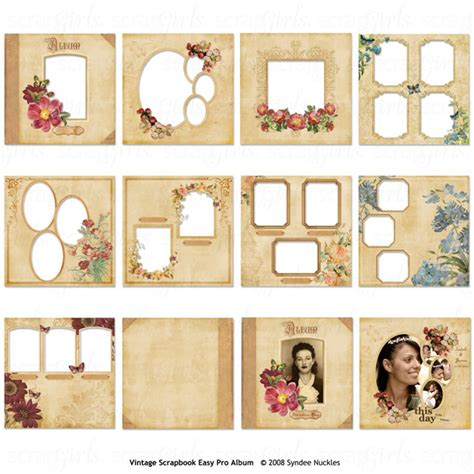12x12 scrapbook templates scrapsimple digital layout templates vintage album