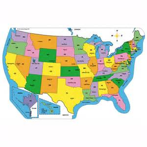 Us Map Labeled Big Practice Map Pads United States Labeled