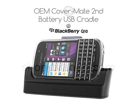 Bicycle For Blackberry Q10 oem blackberry q10 cover mate 2nd battery usb cradle