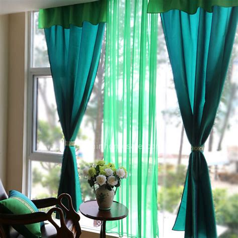 bright curtains bright blue taffeta fabric simple modern curtain not