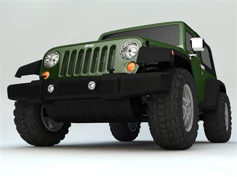 2007 jeep wrangler models jeep wrangler rubicon 2007 3d model automobile autos c4d ar vr