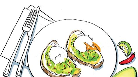 recipe lindsey barehams smashed avocado toast  poached eggs  times