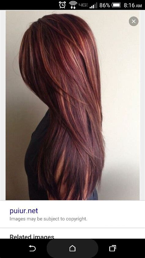 highligjted mahogany hair brownish red with blonde highlights hair styles