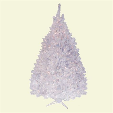 general foam 6 5 ft pre lit deluxe white winter fir