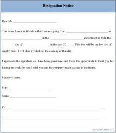 Form Of Resignation Letter by Resign Letter Form Myideasbedroom