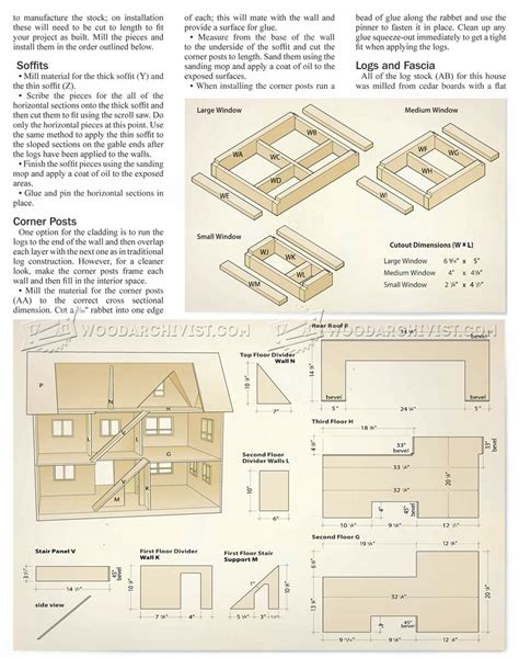 doll house plans ana white three story american girl or 18 quot dollhouse diy projects free
