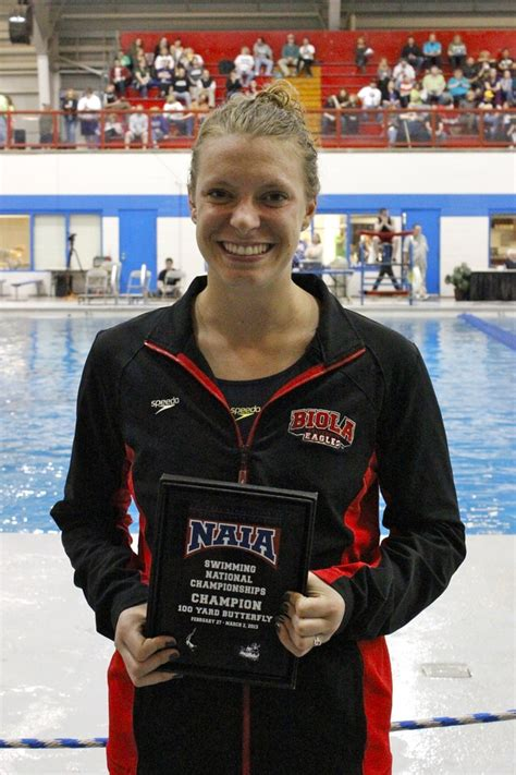 Biola Hofmann 1 2 christine tixier defends naia title in 100 butterfly