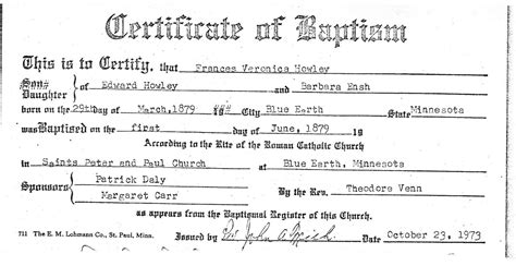 marriage certificate catholic church