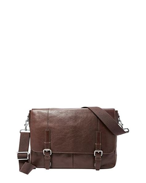Fussil Womens 2in1 Shoulderbags fossil graham leather messenger bag in brown for lyst