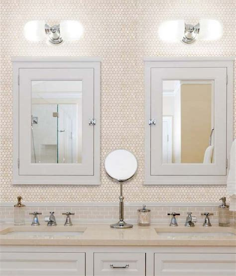 mother of pearl bathroom penny round mother of pearl wall mirror tile