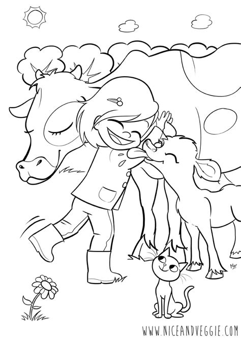 coloring pages of baby calf calf coloring pages