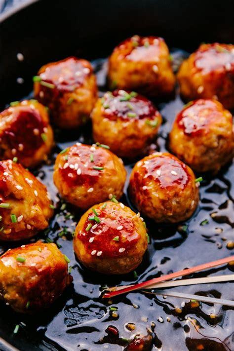 honey garlic meatballs   powerhouse appetizer   ground chicken  based