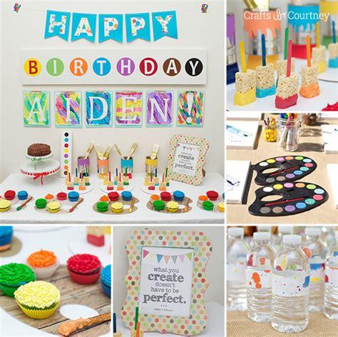 art themed events easy diy kids art themed birthday party