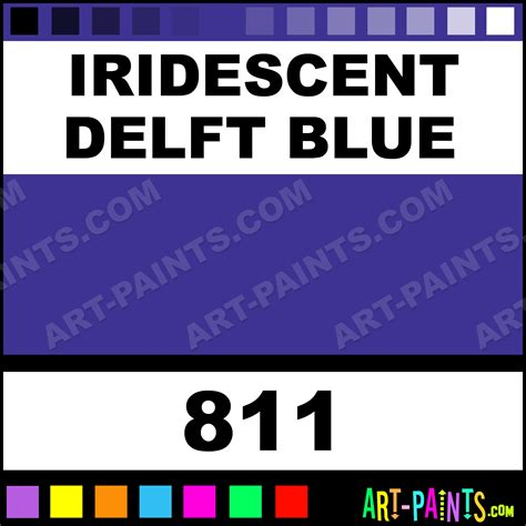 iridescent delft blue classic acrylic paints 811 iridescent delft blue paint iridescent