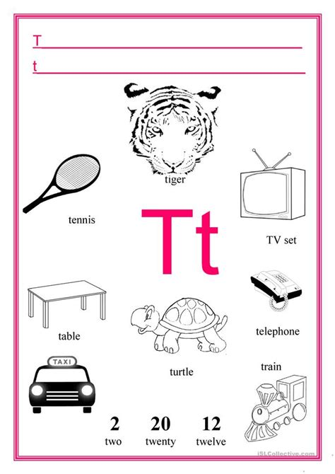 Letter T Worksheet Kindergarten by Letter T Worksheet Free Esl Printable Worksheets Made By