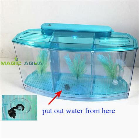 betta fish tank light three splits mini led light betta fighting fish tank