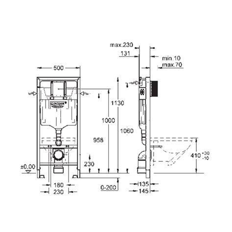 Inbouwtoilet Afmetingen Grohe by Inbouwreservoir Grohe Rapid Sl Wc Element Met Wand