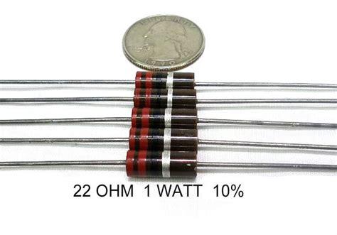 resistors guitar s 22 ohm 1 watt qty 2 allen bradley carbon resistors