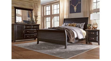 nantucket breeze black 5 pc king sleigh bedroom