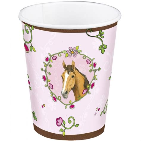 Lolla Cup Pink pink horses paper cups modern lola