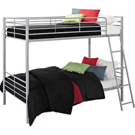 Bunk Beds Twin Over Twin Convertible Bunk Bed Silver Metal Convertible Bunk Bed