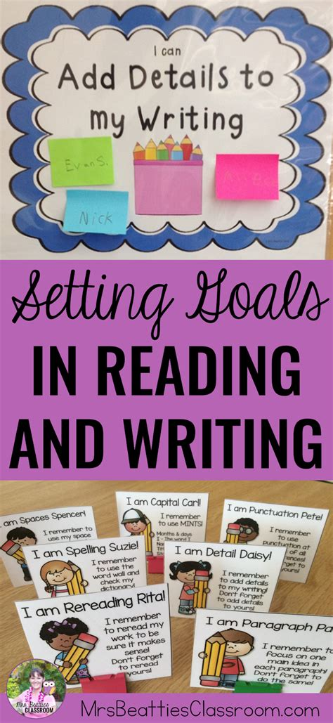 Essay About Reading And Writing by Setting Goals For Reading And Writing Mrs Beattie S Classroom