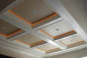 coffered ceiling accent lighting rope lights if we add