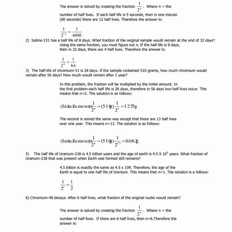 Half Problems Worksheet by Half Worksheet With Answers Wiildcreative