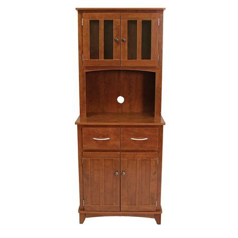oak microwave cabinet serving utility carts kitchen