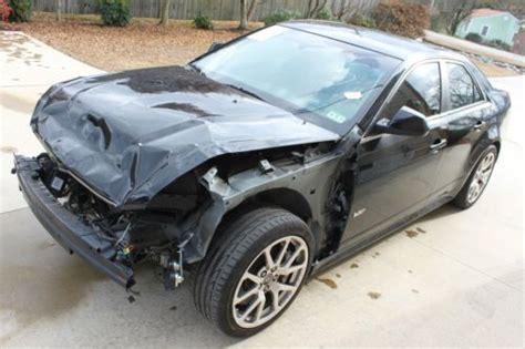 Crashed Cadillac Cts Buy Used 2009 Cadillac Cts V Sedan 4 Door 6 2l
