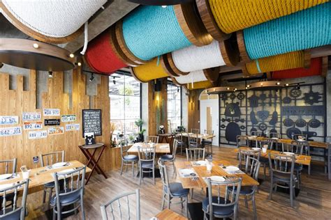 Japanese Kitchen Ideas by Restaurants With Striking Ceiling Designs