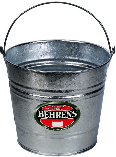 10 Quart Galvanized - buy the behrens mfg 1210 galvanized pail 10 quarts