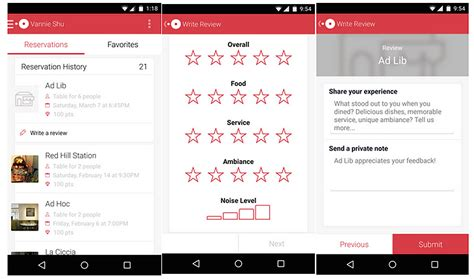 android review restaurant reviews on android opentable app