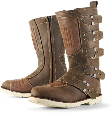 brown motorcycle riding boots icon 1000 elsinore motorcycle riding boots oiled brown