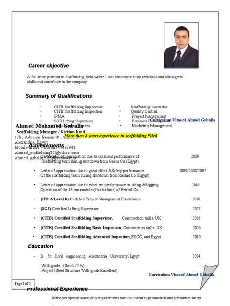scaffolding resume exle 28 images free resume