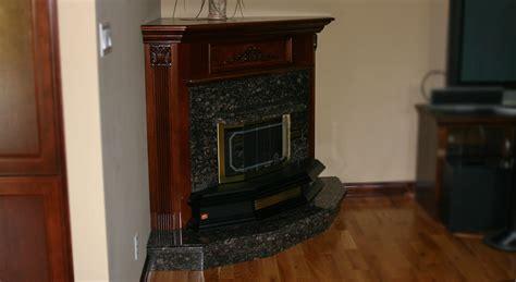 Tan Brown Granite Fireplace Hearth & Surround   Northern