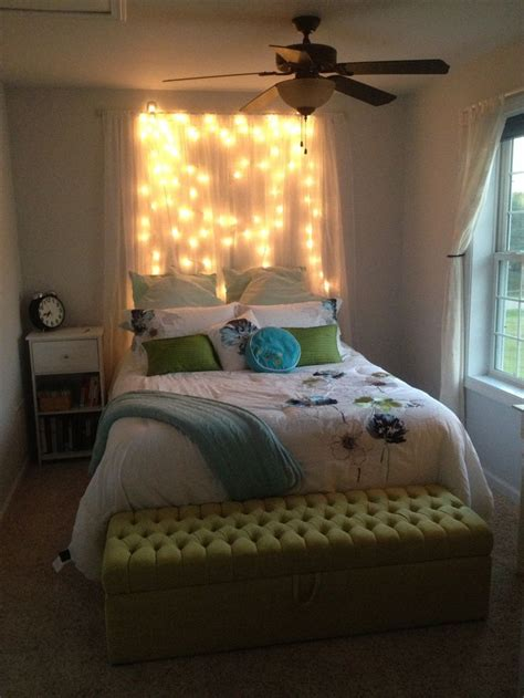 headboards with lights diy light headboard just some shear curtains with white