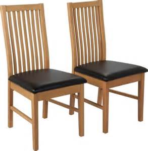 buy hygena pair of black dining chairs at argos co uk