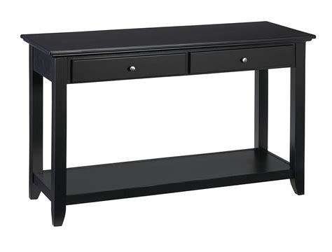 Black Sofa Tables Homeofficedecoration Black Sofa Table With Storage