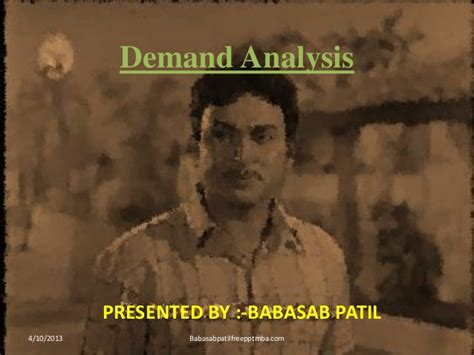 Managerial Economics Ppt Mba Students by Demand Analysis Ppt Of Managerial Economics Mba