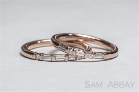 Wedding Bands With Baguettes by Rings With Stones New York Wedding Ring