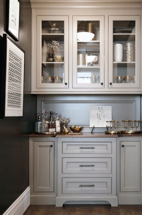 Kitchen Countertops And Backsplash Ideas by Warm White Kitchen Design Amp Gray Butler S Pantry Home