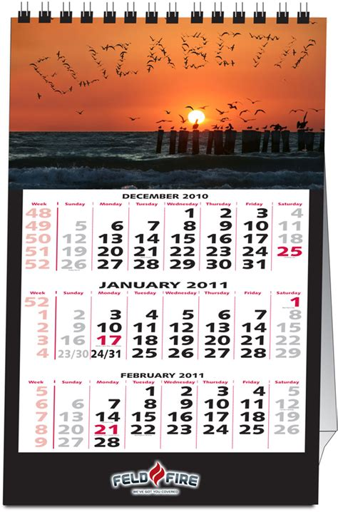 personalized  desk calendar