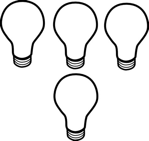 lighting template light bulb pattern clipart panda free