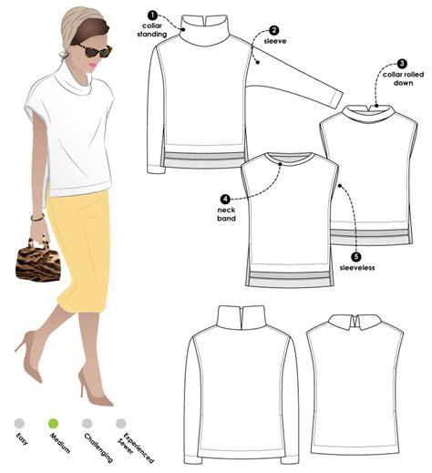 knitting pattern design software reviews stylearc esme designer knit top