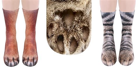 realistic animal socks will make you look like you animal paws bored panda