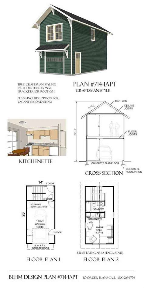 Single Story Garage Apartment Plans by Garage Plans Craftsman Style One Car Two Story Garage